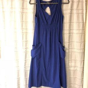 Athleta   Blue Dress with Slouchy Pockets